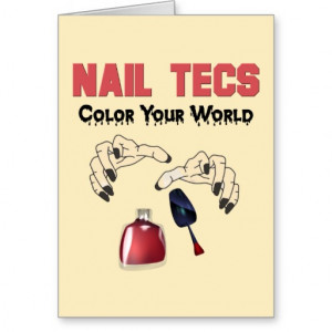Funny Nail Tech Quotes Funny nail tech card