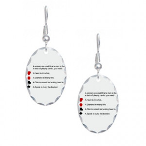 Black Gifts > Black Jewelry > Funny women quotes Earring Oval Charm