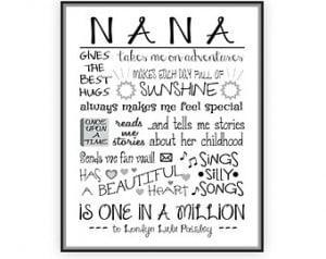Popular items for nana gift on Etsy