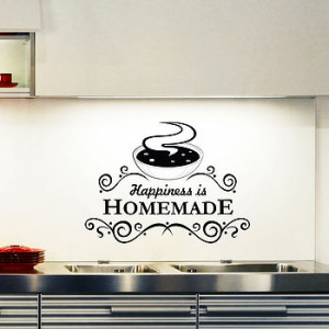 ... DECALS UK BY GEM DESIGNS > HAPPINESS IS HOME MADE KITCHEN WALL QUOTE