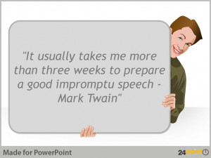 Using quotes in presentations