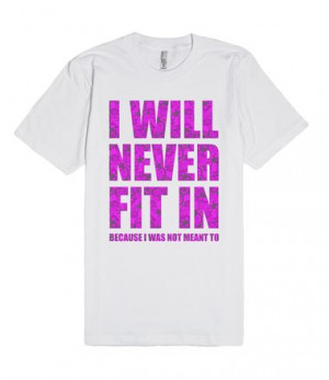 ... March to the beat of your own drum with this I Will Never Fit In tee