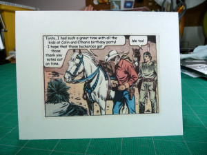 of finding old Lone Ranger comic art and substituting my own quotes ...