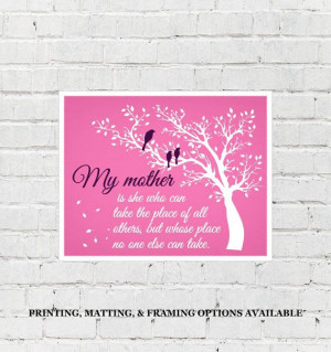 mothers day present, gift for mom birthday, mother quote, # ...