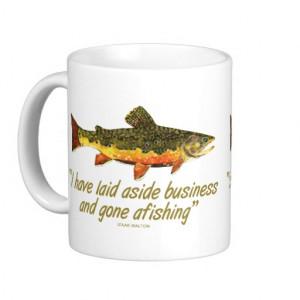 Izaak Walton Fishing Quote Mug
