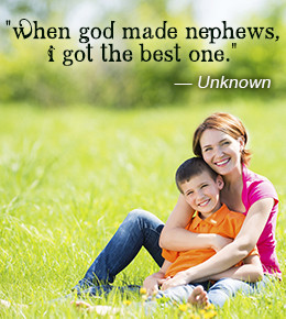 Quote about nephew by anonymous author