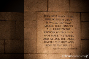 national world war ii memorial photo fdr quote