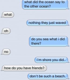 Clever Text Message Conversation - Image