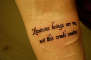 Great Star Wars quote for a tattoo