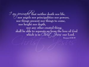 Romans 8:38-39 – Love of God Papel de Parede Imagem