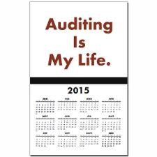 2013 Funny Audit Slogan Auditor Calendar Print for