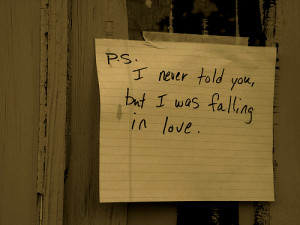 Love Quote : I never told you
