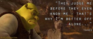 ... for this image include: alone, shrek, feeling, sad quotes and life