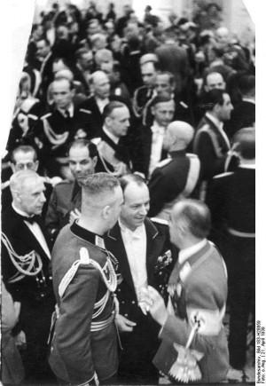 German Admiral Wilhelm Canaris, German Minister Joachim von Ribbentrop ...