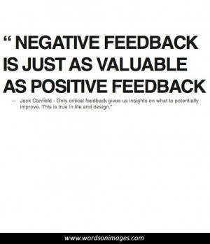Positive feedback quotes