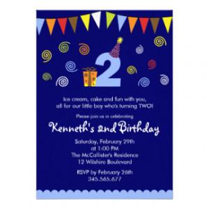 2nd Birthday Invitations, 1100+ 2nd Birthday Announcements & Invites