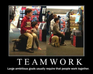 Is teamwork something you find an easy or difficult task? Tell me you ...