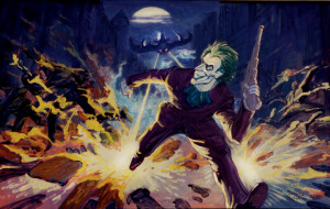 ... for the movie batman 1989 the joker faces off against batman in his