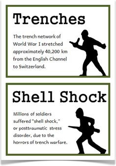 World War One Fact Cards - Treetop Displays - A set of 18 A5 fact ...