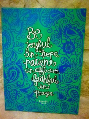 Bible verse canvas #diy #crafts