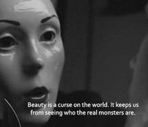 black and white, curse, hipster, love, mask, monsters, people, quote ...