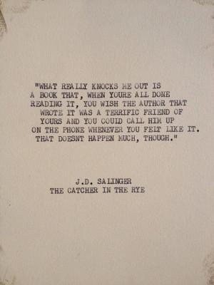 Typewriter Quotes Salinger typewriter quote