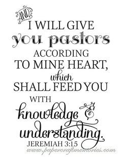 Free Pastor Appreciation verse Jeremiah 3:15 WORDart by Karen personal ...
