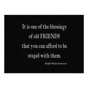 Vintage Emerson Friendship Blessing Quote Announcement