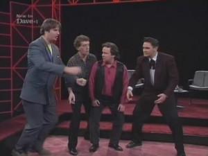 ... Contestants: Jim Sweeney, Steve Steen, Paul Merton, and Tony Slattery