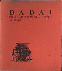 ... first edition of the publication Dada by Tristan Tzara ; Zurich , 1917