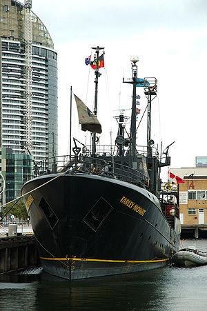 Farley Mowat at Docklands, Melbourne, Australia.jpg