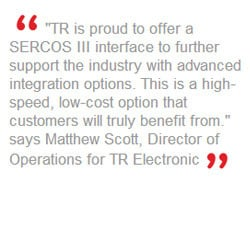 New From TR Electronic: Multi-Turn Rotary Encoder with the SERCOS III ...