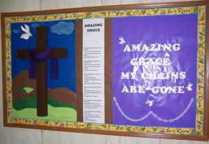 religious bulletin boards easter