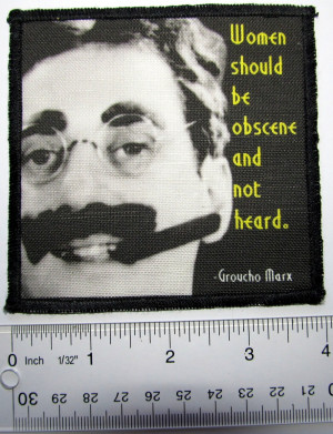 Details about GROUCHO MARX QUOTE - Printed Patch - Sew On - Vest, Bag ...