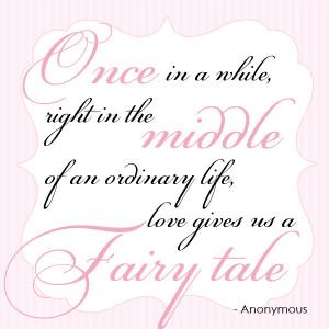 fairytale wedding invitation quote