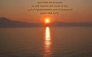John 16:8 – Day of Judgement Papel de Parede Imagem