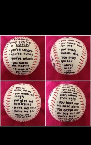 Gift idea baseball boyfriend