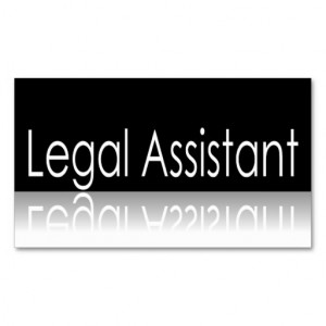Reflective Text - Legal Assistant - Business Card