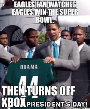 Eagles Fan Watches Eagles Win The Super Bowl…