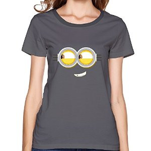 Amazon.com : Customized Naughty Minion Eyes Women O-Neck T Shirts ...
