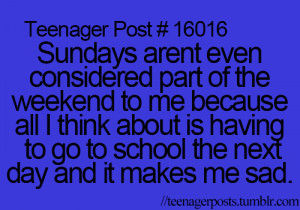 hate, me, quote, quotes, sad, school, sundays, teenager post ...
