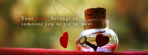 heart quotes fb cover facebook cover photo,Your heart belongs to ...