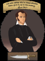 Well drawn Jim Bowie image on t-shirts and other products Nov 21, 2013 ...