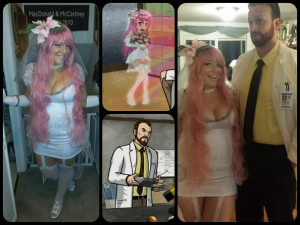 ... couples costume - Dr. Kreiger and his virtual girlfriend from Archer