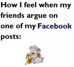 Funny photos funny friends argument Facebook post