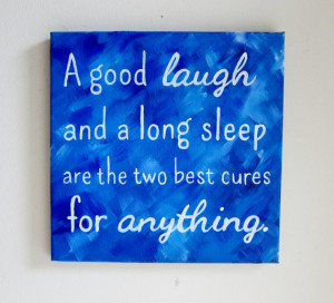 Inspirational Quote Art Wall Sayings - A Good Laugh Canvas Wall Art ...
