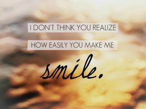 you make me smile quotes and sayings