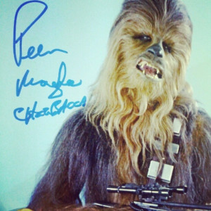Chewbacca picture autographed by Peter Mayhew . Got this w00t at ...