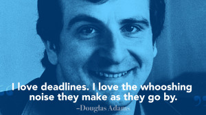 douglas adams quote 520x293 How to create consistently great content