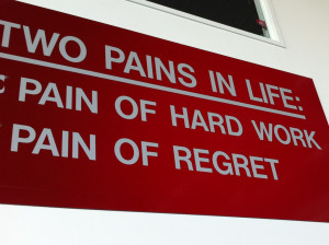 Hard Work. No Regrets. $40 for You.